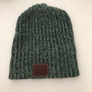 Green and white Speckled Love Your Melon beanie